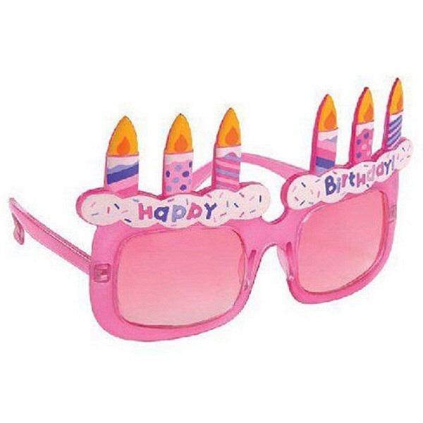 パーティーメガネ ケーキ ピンク
