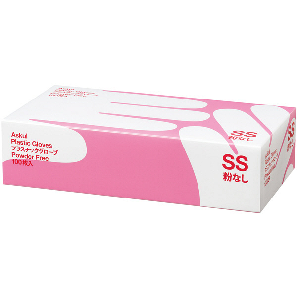 アスクルビニール手袋 SS 粉なし 3箱