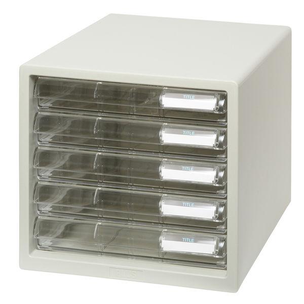 プラス レターケース 浅型5段 ホワイト 16082 1箱(4台入)