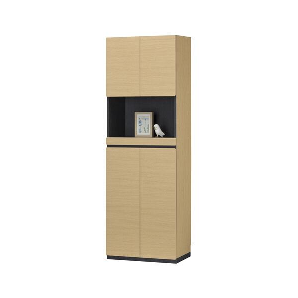白井産業 壁面収納シューズラック 飾り棚タイプ(24足収納)ナチュラル (直送品)