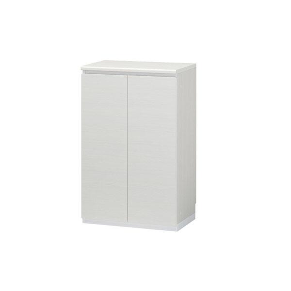 白井産業 壁面収納シューズラック ロータイプ(15足収納)ホワイト (直送品)