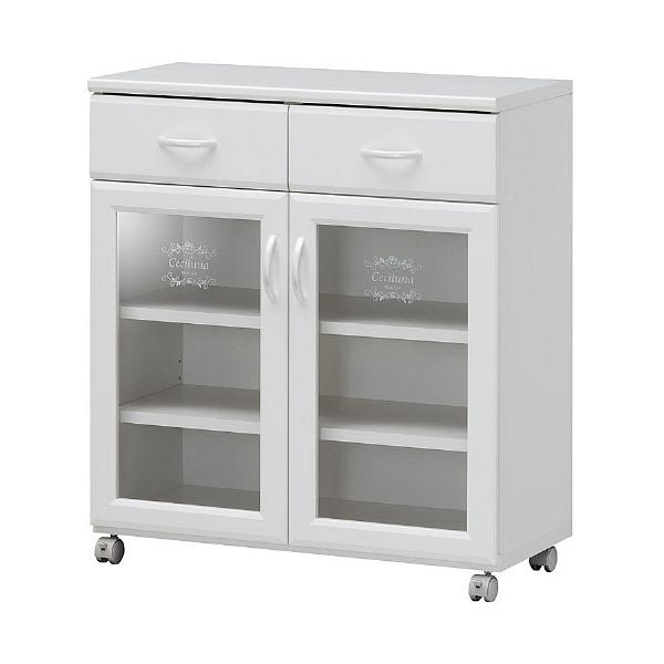 白井産業 台所回りの食器や小物をひとまとめに収納出来るカウンターワゴン 1台 (直送品)
