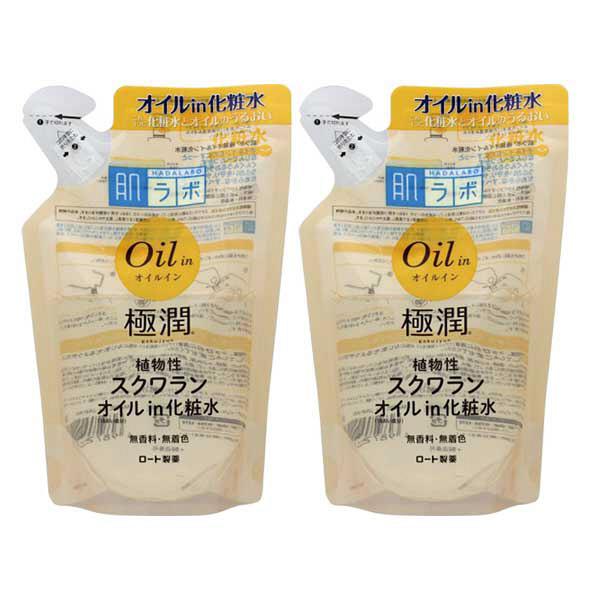 肌ラボ 極潤 オイルイン化粧水 詰替2個