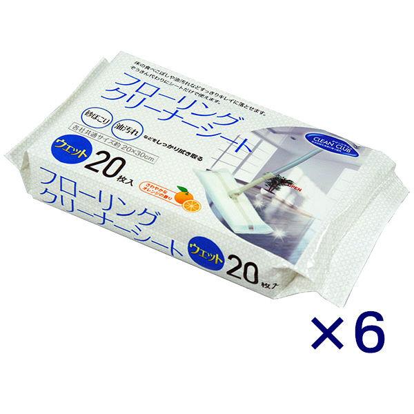 CCフローリングウェットシート20枚×6