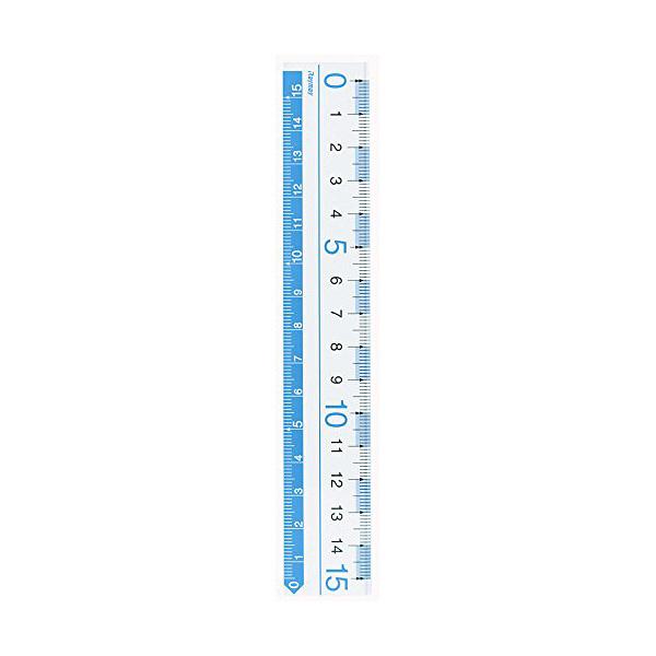 レイメイ藤井 定規 カラー定規 ブルー 15cm AJR125A 10個(直送品)