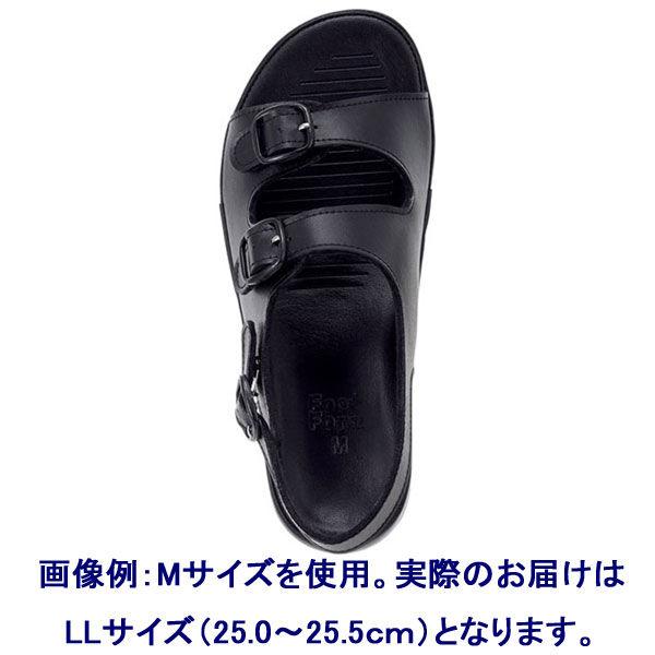 形状記憶 ナースサンダル(2本バンド) LL(25.0~25.5cm) ブラック