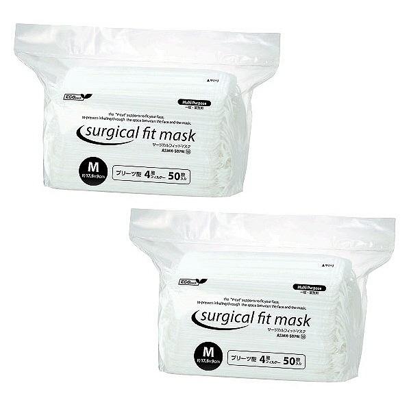 サージカルフィットマスク4層式M100枚