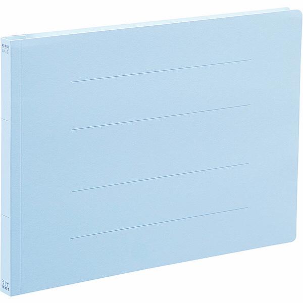 アスクル フラットファイル A4ヨコ ロイヤルブルー エコノミータイプ 10冊