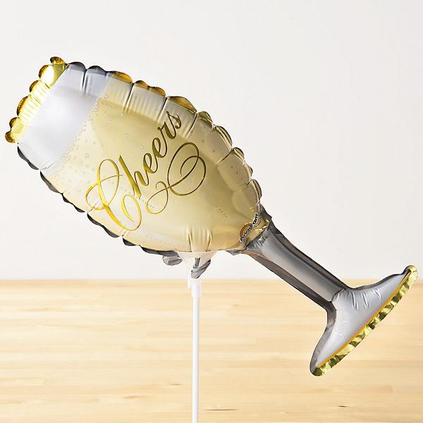 スティックバルーン シャンパングラス