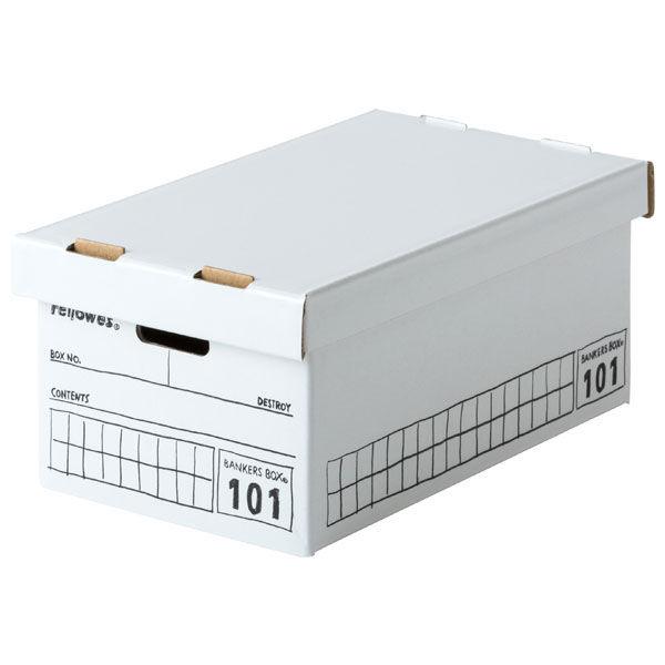 バンカーズボックスミニ 101 手書き白 3枚 フェローズジャパン  外寸:幅105×奥行170×高さ75mm
