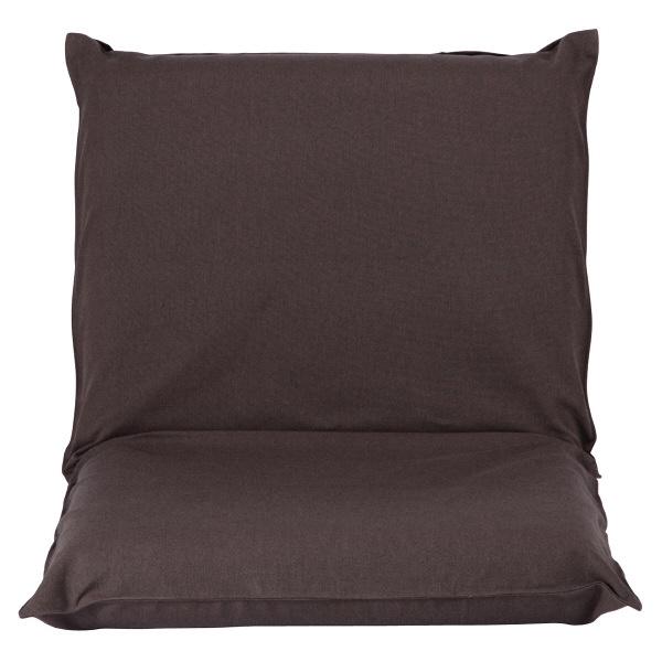 座いす大用カバー/綿平織ダークブラウン