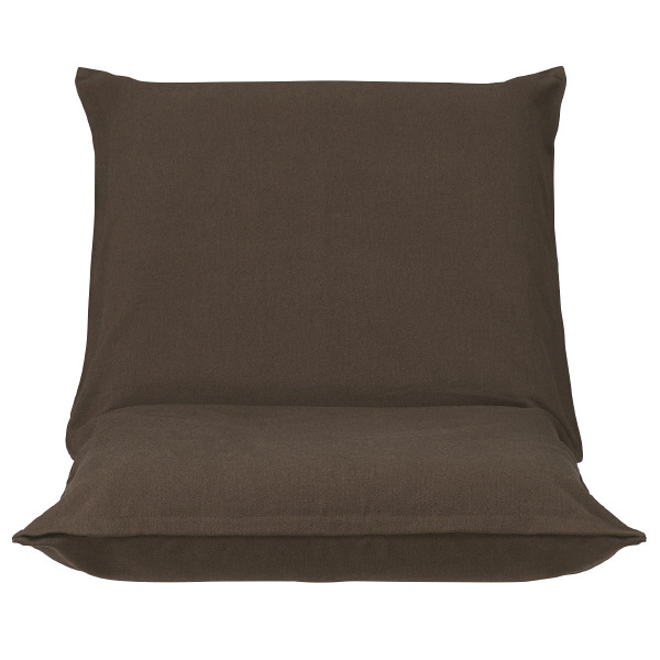 座いす小用カバー/綿平織ダークブラウン