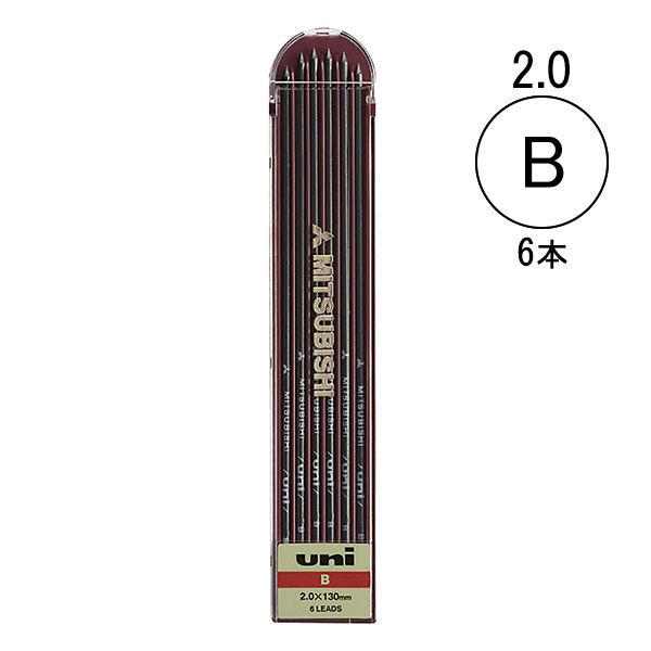 三菱鉛筆(uni) ユニホルダー シャープ替芯 B 2mm ULNB 1ケース(6本入)