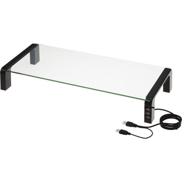 キングジム デスクボード USBハブ付 ブラック 幅550×奥行236×高さ80mm 1台 (取寄品)