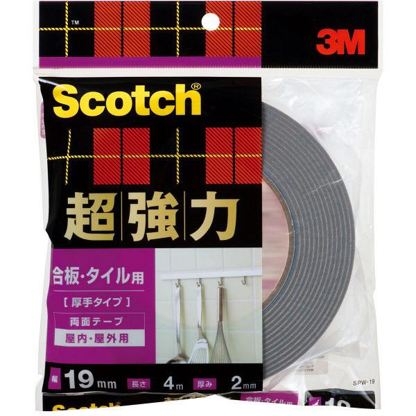スリーエムジャパン スコッチR超強力両面テープ 合板・タイル用(厚手タイプ) 12x4 SPW-19 1巻