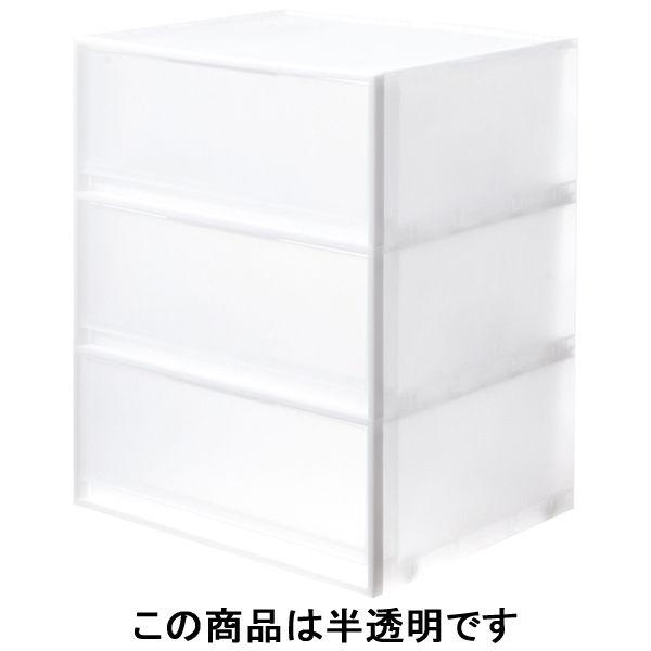 無印良品 ポリプロピレン収納ケース・引出式横ワイド・大・3段 1 ...