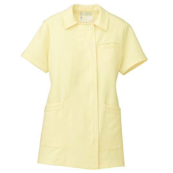 AITOZ(アイトス) オープンネックチュニック(ナースジャケット) 半袖 レモンイエロー S 861369-019