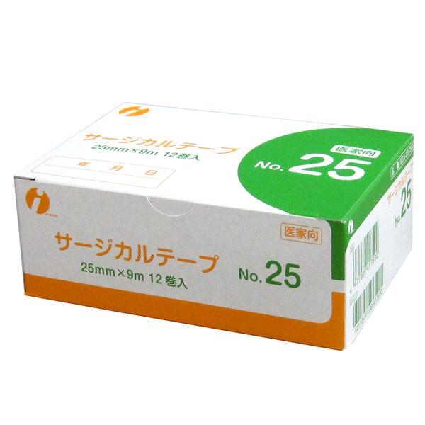 イワツキ サージカルテープ No.25 25mm×9m 004-41908 1箱(12巻入)