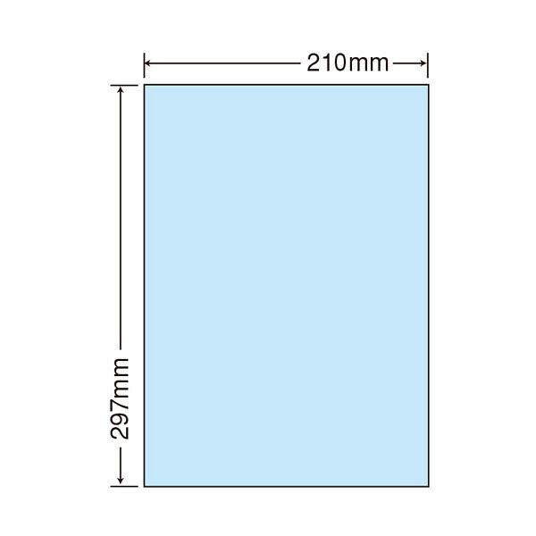 東洋印刷 マルチタイプカラーラベル CL-7Bブルー 1ケース(500シート) (直送品)