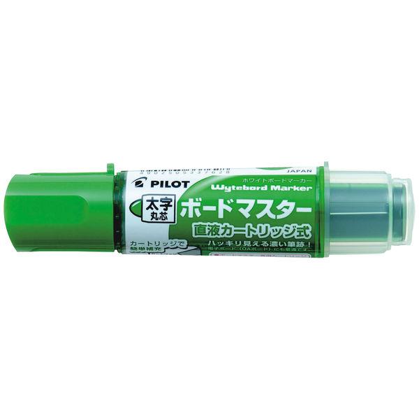 パイロット ホワイトボードマーカー ボードマスター 太字丸芯 緑 WMBM-18BM-G 1箱(10本入)
