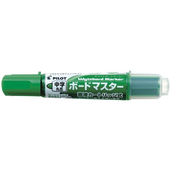 パイロット ホワイトボードマーカー ボードマスター 中字丸芯 緑 WMBM-12L-G 1箱(10本入)