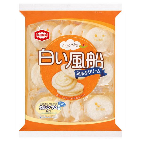 亀田製菓 白い風船ミルククリーム 21枚