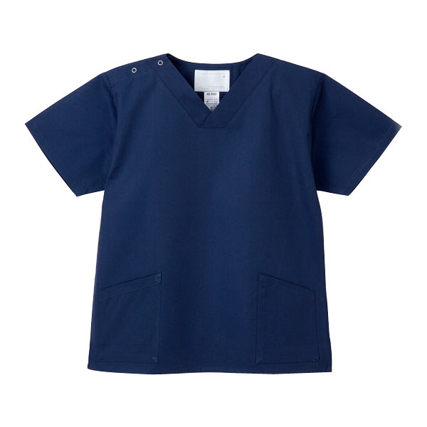 ナガイレーベン 医療白衣 スクラブ(男女兼用上衣) NR-8602 ネイビー S (取寄品)
