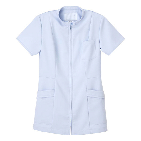 ナガイレーベン 医療白衣 女子上衣 CB-1532 ブルー L (取寄品)