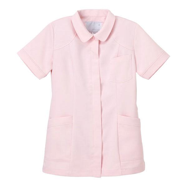 ナガイレーベン 医療白衣 女子上衣 CB-1542 ピンク L (取寄品)