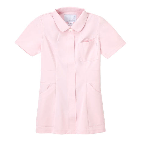 ナガイレーベン 女子上衣 医療白衣 半袖 ピンク EL CD-2822 (取寄品)