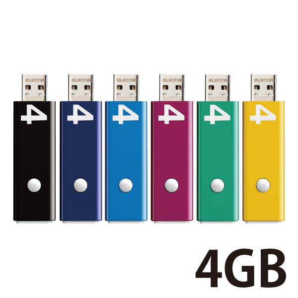 プッシュロック  4GB 6色