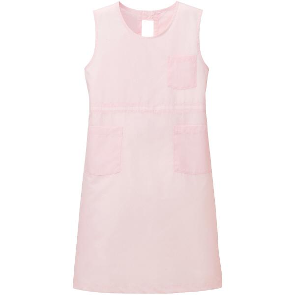 タップ 予防衣 袖なし ピンク L AKL924-33