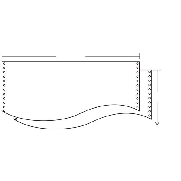 ナカバヤシ ストックフォーム(2枚複写タイプ) 15×11インチ 無地 1箱(1000組入)