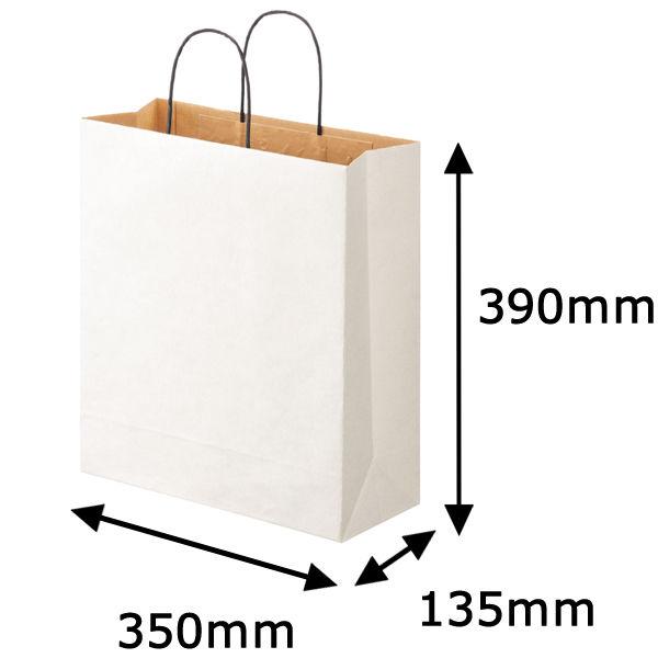 丸紐 手提げ紙袋 白 L 10枚