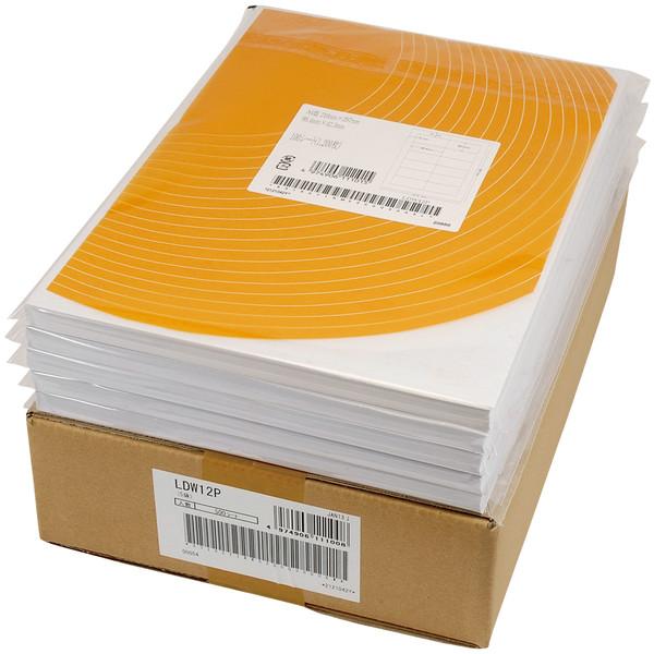 東洋印刷 ナナワード粘着ラベル(ワープロ&レーザー用ラベル) 12面 四辺余白付(A) LDW12P A4 1箱(500シート入)