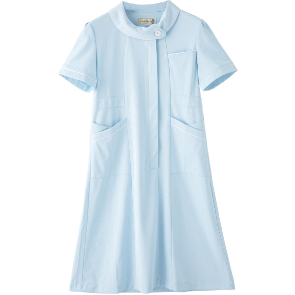 フランシュリッペ ワンピース サックス LL MS-21041 医療白衣 ナースワンピース 1枚 (取寄品)