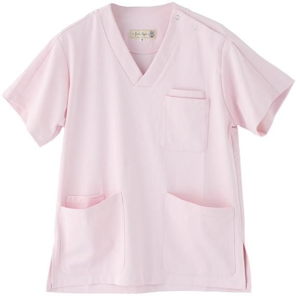 フランシュリッペ 半袖スクラブ ピンク M MS-21031 医療白衣 レディススクラブ 1枚 (取寄品)