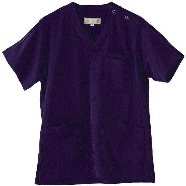 フランシュリッペ 半袖スクラブ ネイビー L MS-21031 医療白衣 レディススクラブ 1枚 (取寄品)