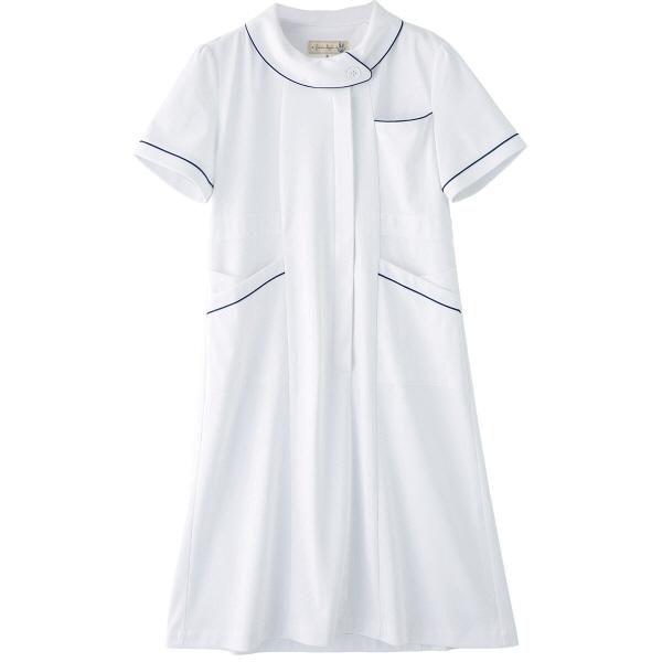 フランシュリッペ ワンピース ホワイト LL MS-21041 医療白衣 ナースワンピース 1枚 (取寄品)