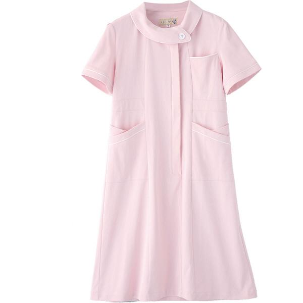 フランシュリッペ ワンピース ピンク S MS-21041 医療白衣 ナースワンピース 1枚 (取寄品)