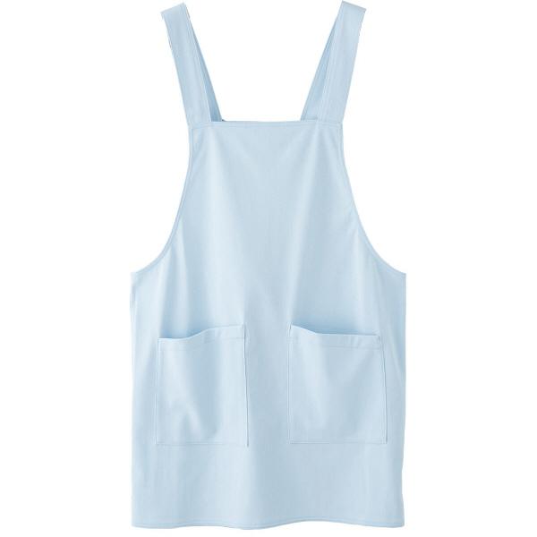 フランシュリッペ エプロン シングル(ショート丈) サックス MS-21061 医療白衣 エプロン 予防衣 1枚 (取寄品)