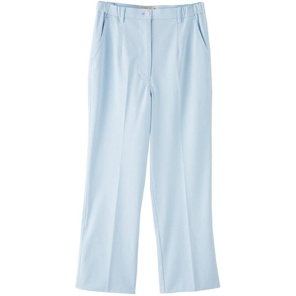 フランシュリッペ シャーリングパンツ(レギュラー) サックス M MS-21051 医療白衣 ナースパンツ 1枚 (取寄品)