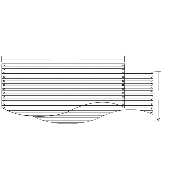 ナカバヤシ ストックフォーム(2枚複写タイプ) 15×11インチ スリーライン 1箱(1000組入)