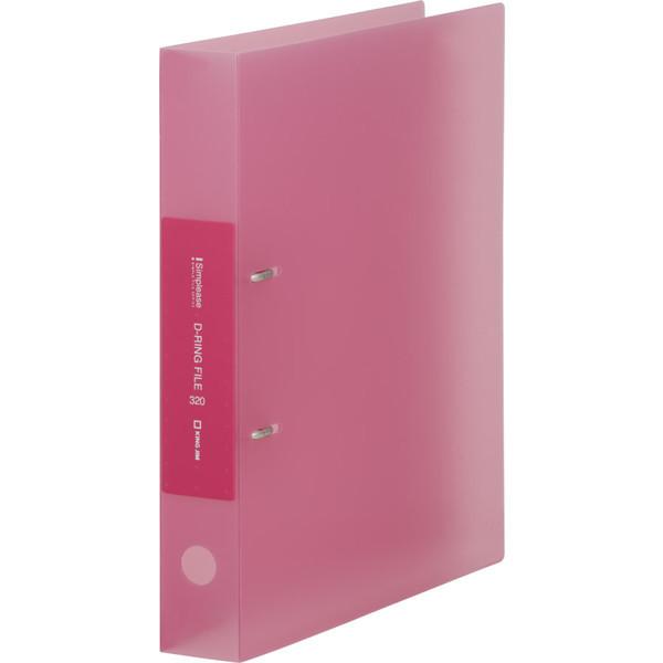 キングジム シンプリーズ Dリング(透明) ピンク 652TSPヒン 3冊 (直送品)