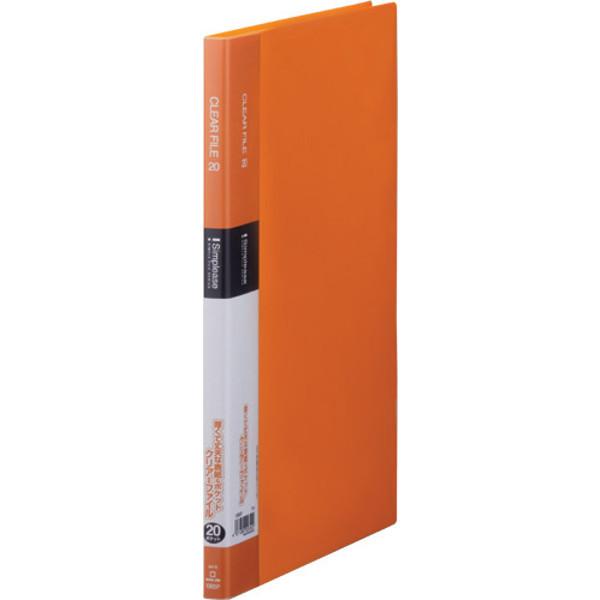 キングジム シンプリーズクリアーファイル20P オレンジ 136SPオレ 3冊 (直送品)