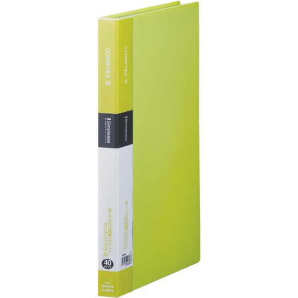 キングジム シンプリーズクリアーファイル40P 黄緑 136SPWキミ 2冊 (直送品)