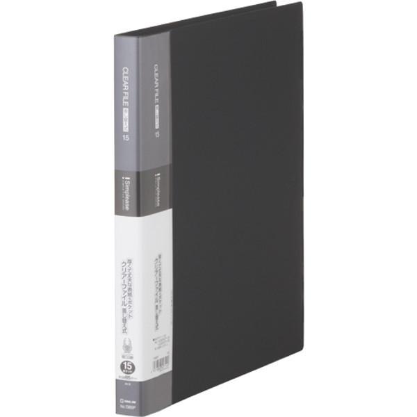 キングジム シンプリーズクリアーF差替式15P黒 138SPクロ 2冊 (直送品)