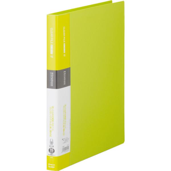 キングジム シンプリーズクリアーF差替式15P黄緑 138SPキミ 2冊 (直送品)