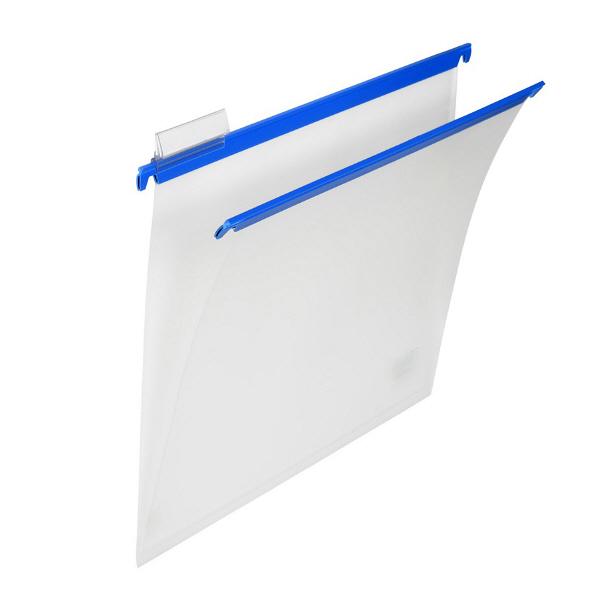 プラス PP ハンガーフォルダー A4 ブルー 34002 1袋(10枚入)
