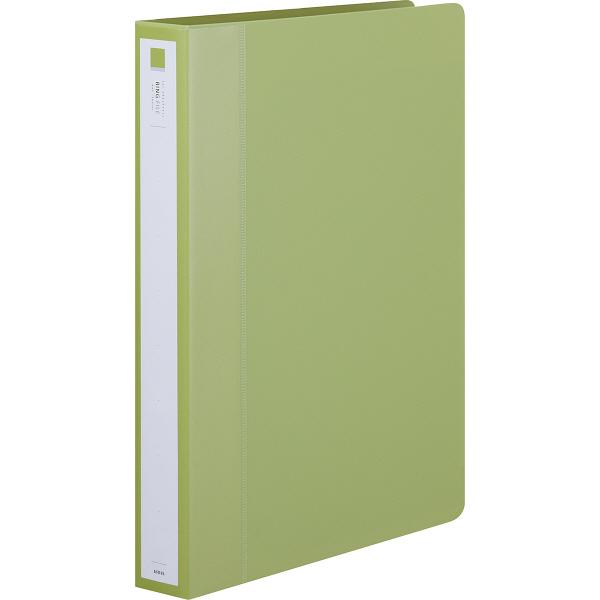 アスクル リングファイル丸型2穴 A4タテ 背幅36mm グリーン 3冊